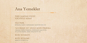 Park Samdan The Bar Winter Menu Ana Yemekler