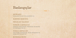 Park Samdan The Bar Winter Menu Baslangiclar